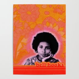 bell hooks retro print Poster