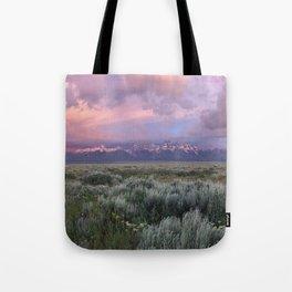 Teton Range Sunrise Tote Bag