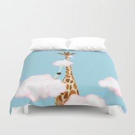 Giraffe Enjoy yummy Cloud Candy Duvet Cover