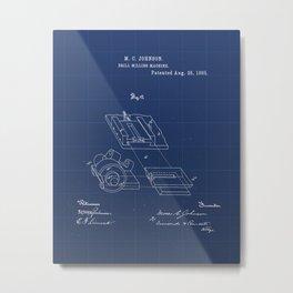 Drill Milling Machine Vintage Patent Hand Drawing Metal Print