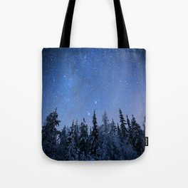 Shimmering Blue Night Sky Stars 2 Tote Bag
