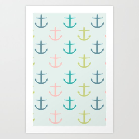 Anchored Art Print