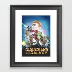 In a Little Galaxy not so far away... Framed Art Print