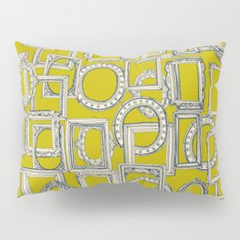 picture frames aplenty indigo chartreuse Pillow Sham