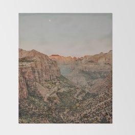 Zion National Park V / Utah Desert Throw Blanket