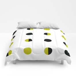 Black and Gold circle Comforters