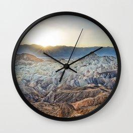 DEATH VALLEY SUNSET CALIFORNIA NATIONAL PARK ZABRISKIE POINT Wall Clock