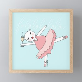Ballerina Bitterbeans Framed Mini Art Print