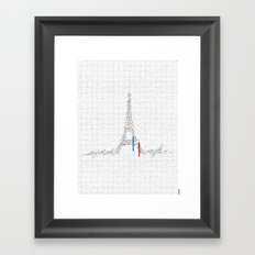 Eiffel Tower   Paris, France   Esperantos   StoryScape #1 Framed Art Print