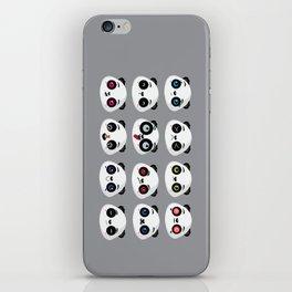 Panda faces iPhone Skin