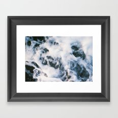 Standing on the shoreline Framed Art Print
