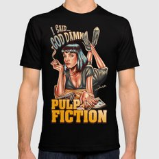 Mia Wallace - Pulp Fiction Black Mens Fitted Tee X-LARGE