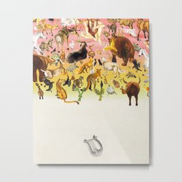 Orpheus and Animals Metal Print