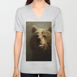 Brown Bear Unisex V-Neck
