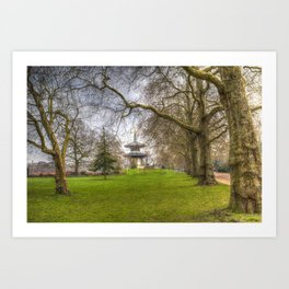 The Pagoda Battersea Park London Art Print