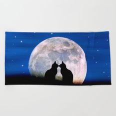 The Love Cats Beach Towel