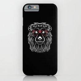 Cooler Löwe Mit Roter Sonnenbrille König iPhone Case