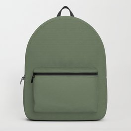 Solid Dark Camouflage Green Color Backpack