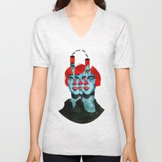 The cats in my head Unisex V-Neck