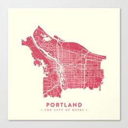 Portland City Map Canvas Print