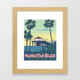Manhattan Beach Poster -e. e. kono Framed Art Print