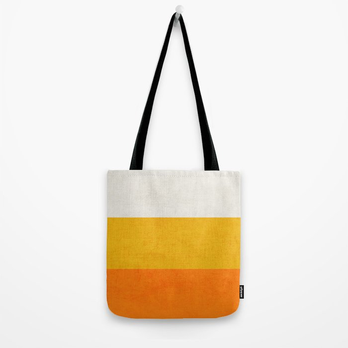 three stripes - candy corn Tote Bag