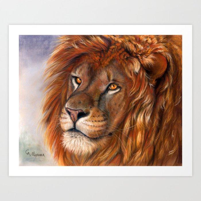Lion P041 bis Art Print