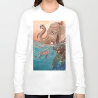 elephants Long Sleeve T-shirts featuring Elephants by Paloma  Galzi