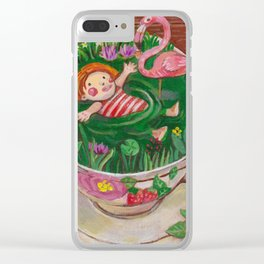 Teacup Bathers 02 Clear iPhone Case