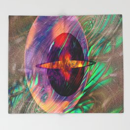 Large Wall Art- Home Deco- Interior Design- New Age Art- Yoga Art Throw Blanket