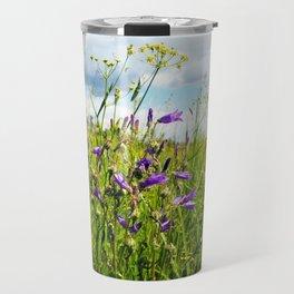 bellflowers in the grass Travel Mug
