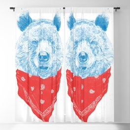 Wild bear (color version) Blackout Curtain