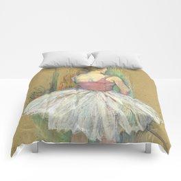 """Henri de Toulouse-Lautrec """"Danseuse en pied. Vue de dos (Standing dancer. Back vue)"""" Comforters"""