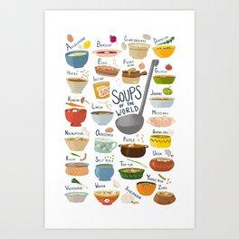 Soups of the World Art Print