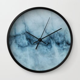 Blue marble abstraction Wall Clock