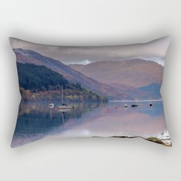 Argyll Scotland loch peaceful boats Rectangular Pillow