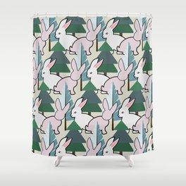 Bunnies and Trees 2 (Cute Buns) Shower Curtain
