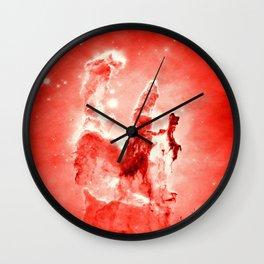 Red Pillars of Creation neBuLa Wall Clock