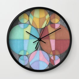Eight Circles in a Circle Wall Clock