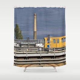 Yellow Train - Berlin Shower Curtain