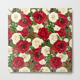 Christmas roses garden Metal Print