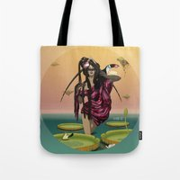 guardians Tote Bags featuring GUARDIANS #1 by ANVIK