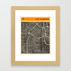 Los Angeles Map Framed Art Print