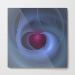 Take Care of My Heart Fractal Metal Print
