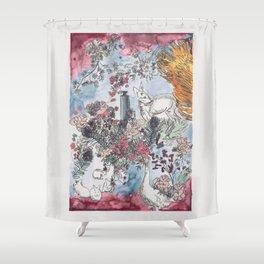 Pink Saturdays Shower Curtain