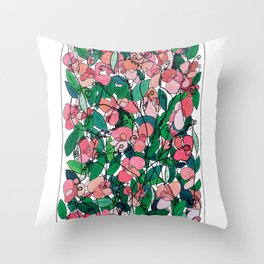 """Capacity""/Lathyrus odoratus - part of the Bell Jar series Throw Pillow"