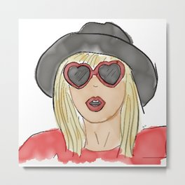 Heart shaped sunglasses Metal Print