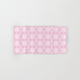 Stars and Hexagons Pattern - Pearly Pink Hand & Bath Towel