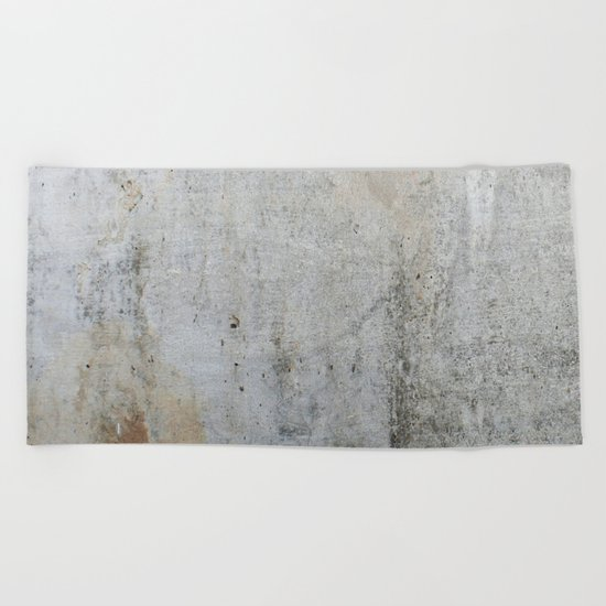 Concrete Style Texture Beach Towel