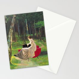 Melancolia Red Stationery Cards